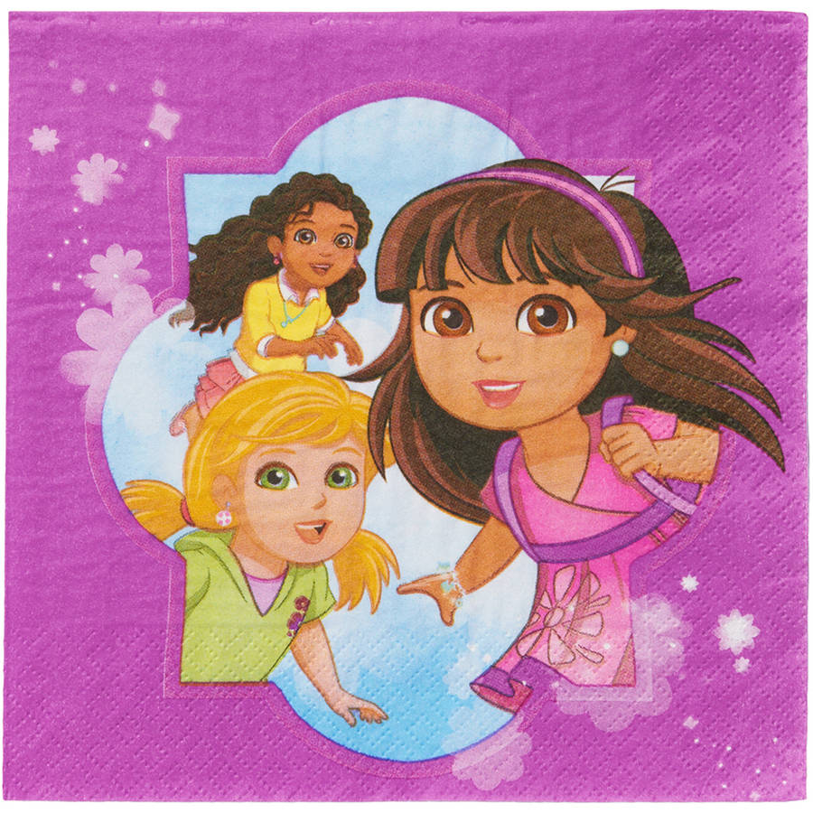 Dora & Friends Lunch Napkins, 16 Count, Party Supplies
