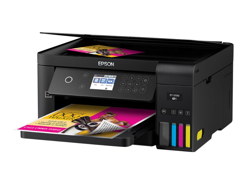 Epson Expression ET-3700 EcoTank Wireless Color All-in-One Supertank Printer with Scanner, Copier and Ethernet by Epson