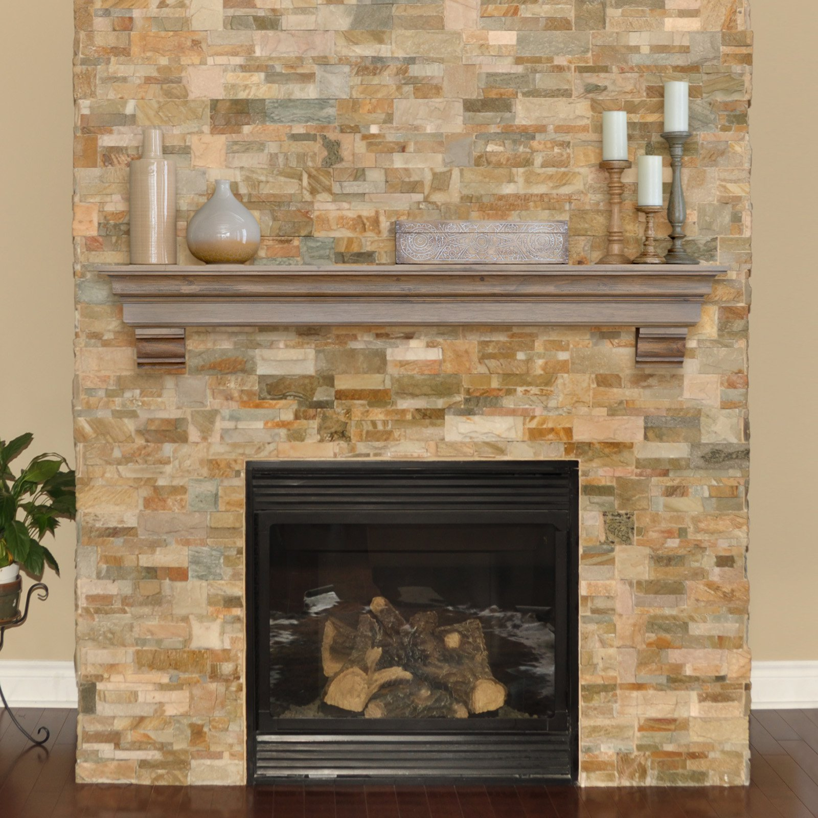 fullxfull fireplace wood style zoom shelf il stained listing wall mantle en beam gray in
