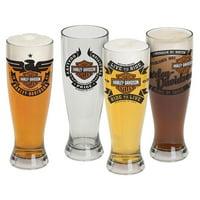 Harley-Davidson Bar & Shield Acrylic Pilsner Glasses Set, 22 oz. HDL-18775, Harley Davidson by Ace Branded Products