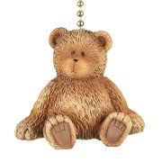 Brown Teddy Bear Dimensional Decorative Ceiling Fan Light Dimensional Pull