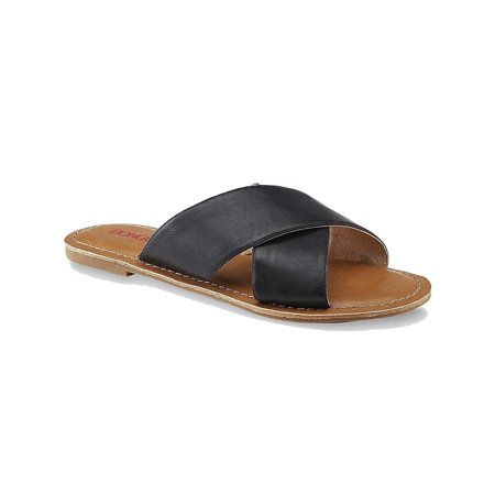 Bongo Lila Women's Slide Sandal, Black, Size 7