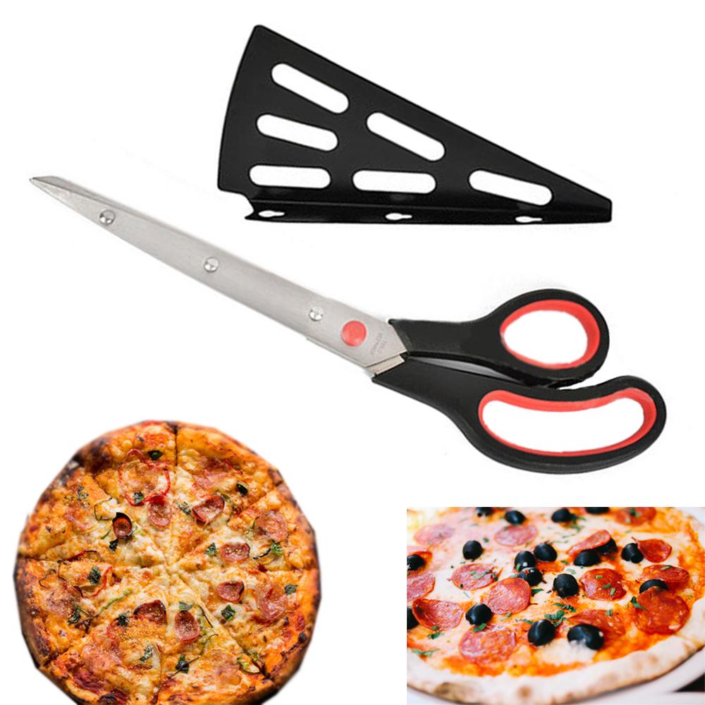 Premium Pizza Cutter Stainless Steel Scissors Slicer Sharp Blade Kitchen Utensil