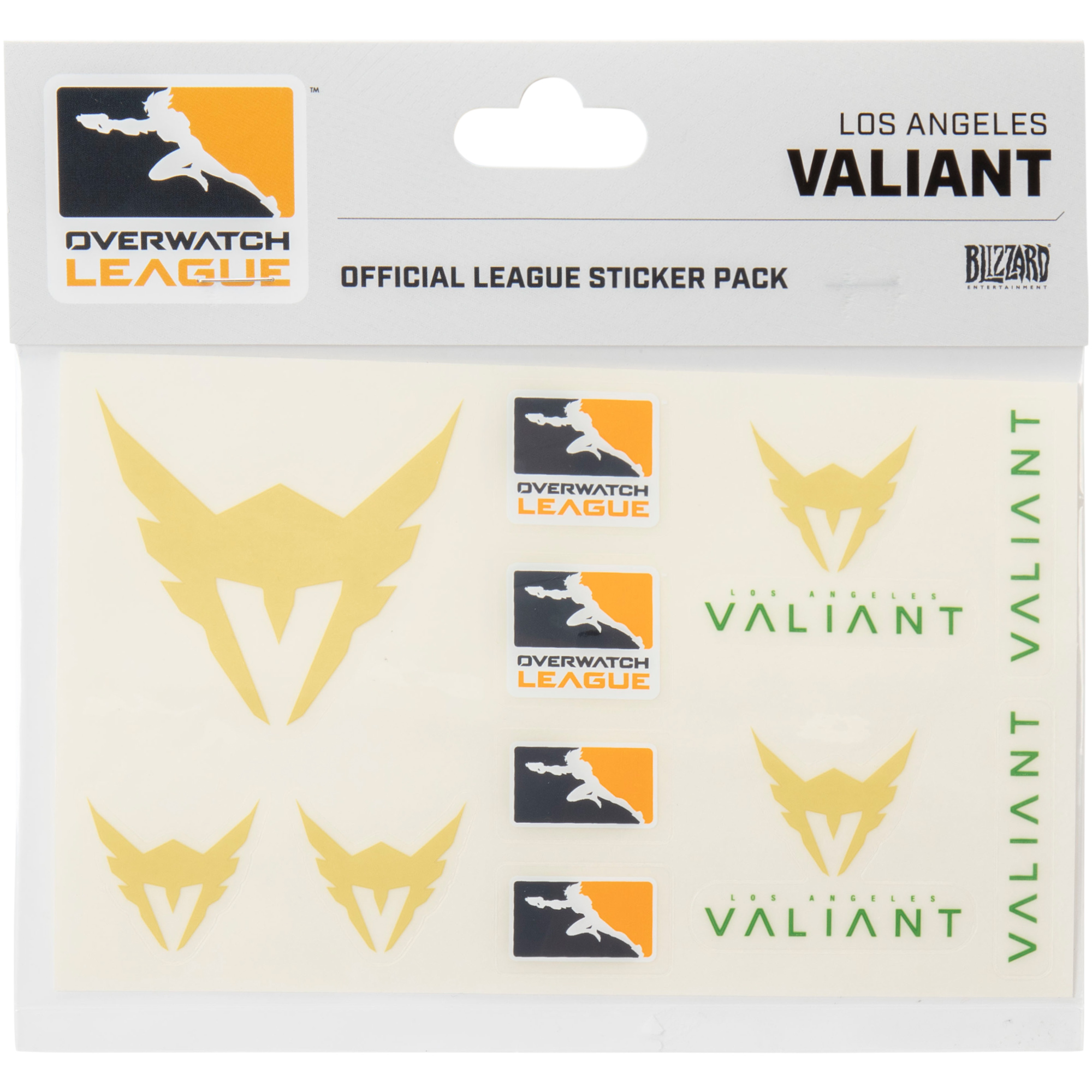 Los Angeles Valiant Overwatch League 10-Pack Team Car Stickers - No Size