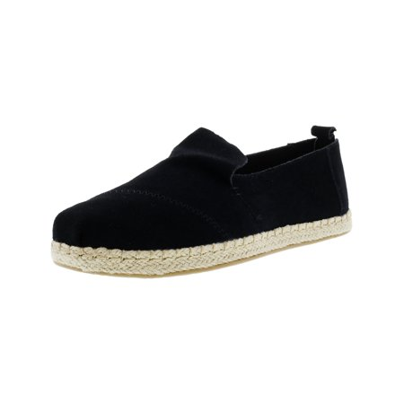 Toms Women's Deconstructed Alpargata Rope Suede Black Ankle-High Slip-On Shoes - 8M](Toms Shoes On Clearance)