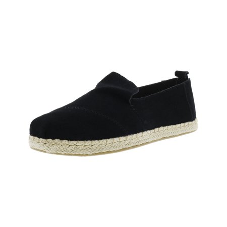 Toms Desert Wedges (Toms Women's Deconstructed Alpargata Rope Suede Black Ankle-High Slip-On Shoes -)