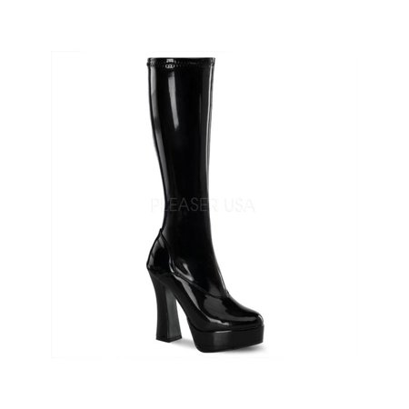 ELE2000Z/B Pleaser Platforms (Exotic Dancing) Knee High Boots BLACK Size: 11