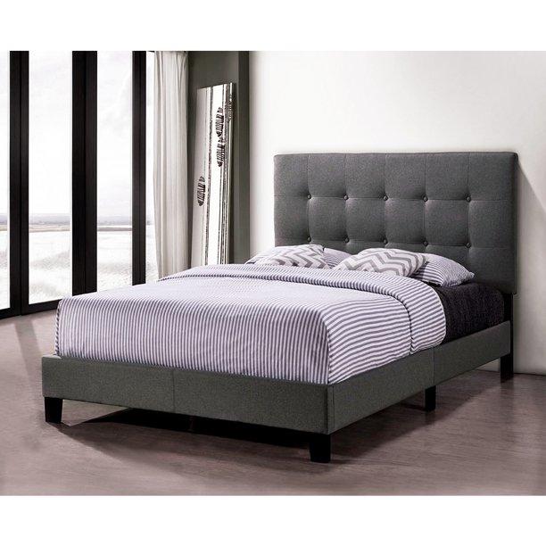 Clearance Upholstered Platform Bed Frame Wooden Bed Frame W