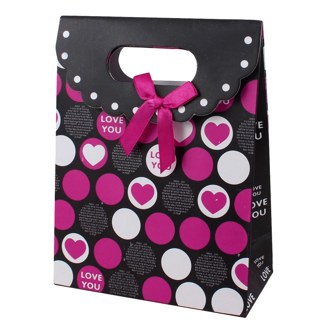 Dot Pattern Flat Foldable Jewelry Present Gift Bag