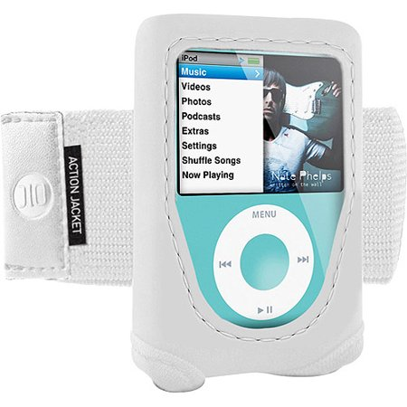 DLO Action Jacket - Case for player - neoprene - white - for Apple iPod nano (3G)