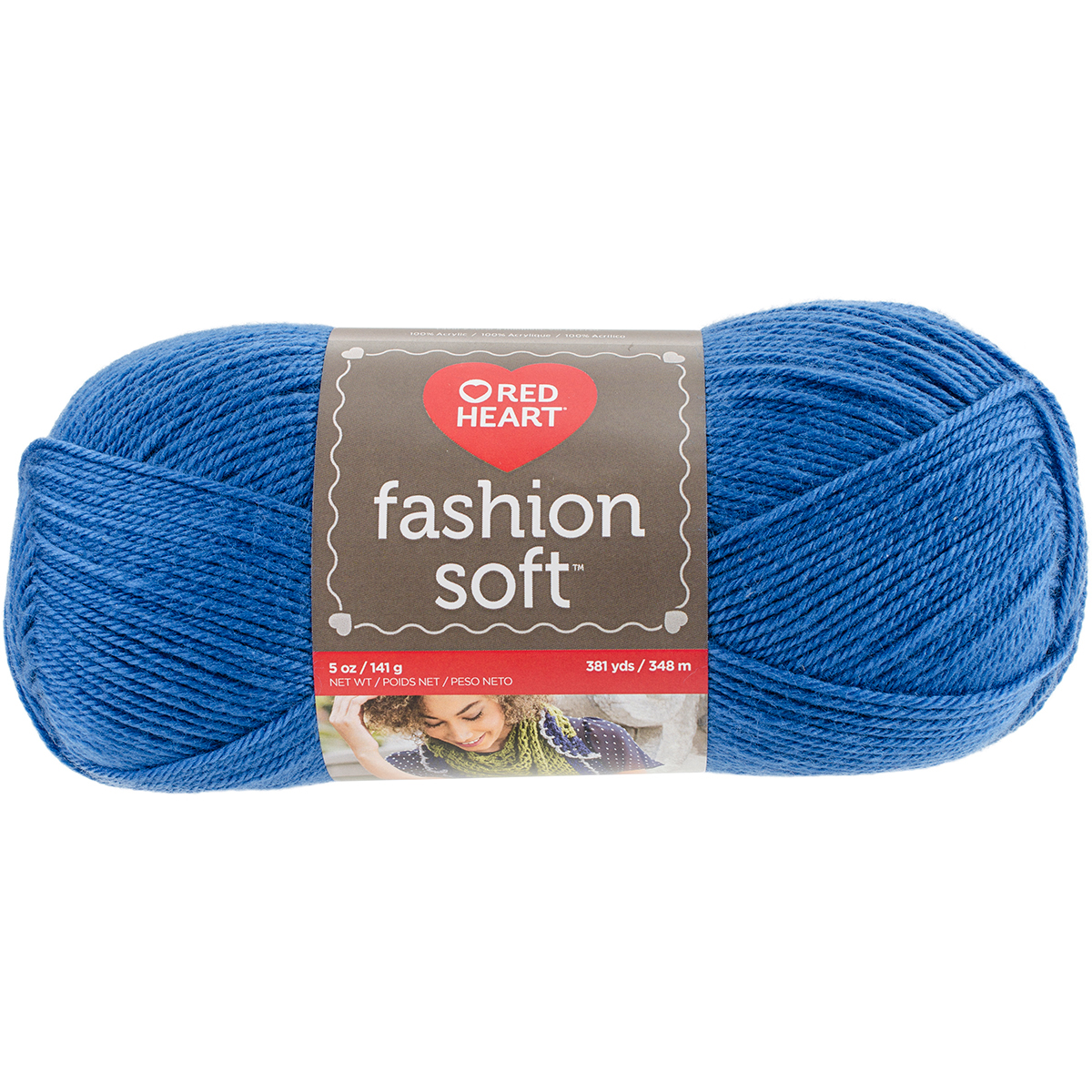 Red Heart Fashion Soft Yarn, Cobalt