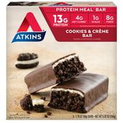 Atkins Meal Bar, Cookies n Creme Bar, 5 Bars, 1.76 oz (50 g), 5 Count