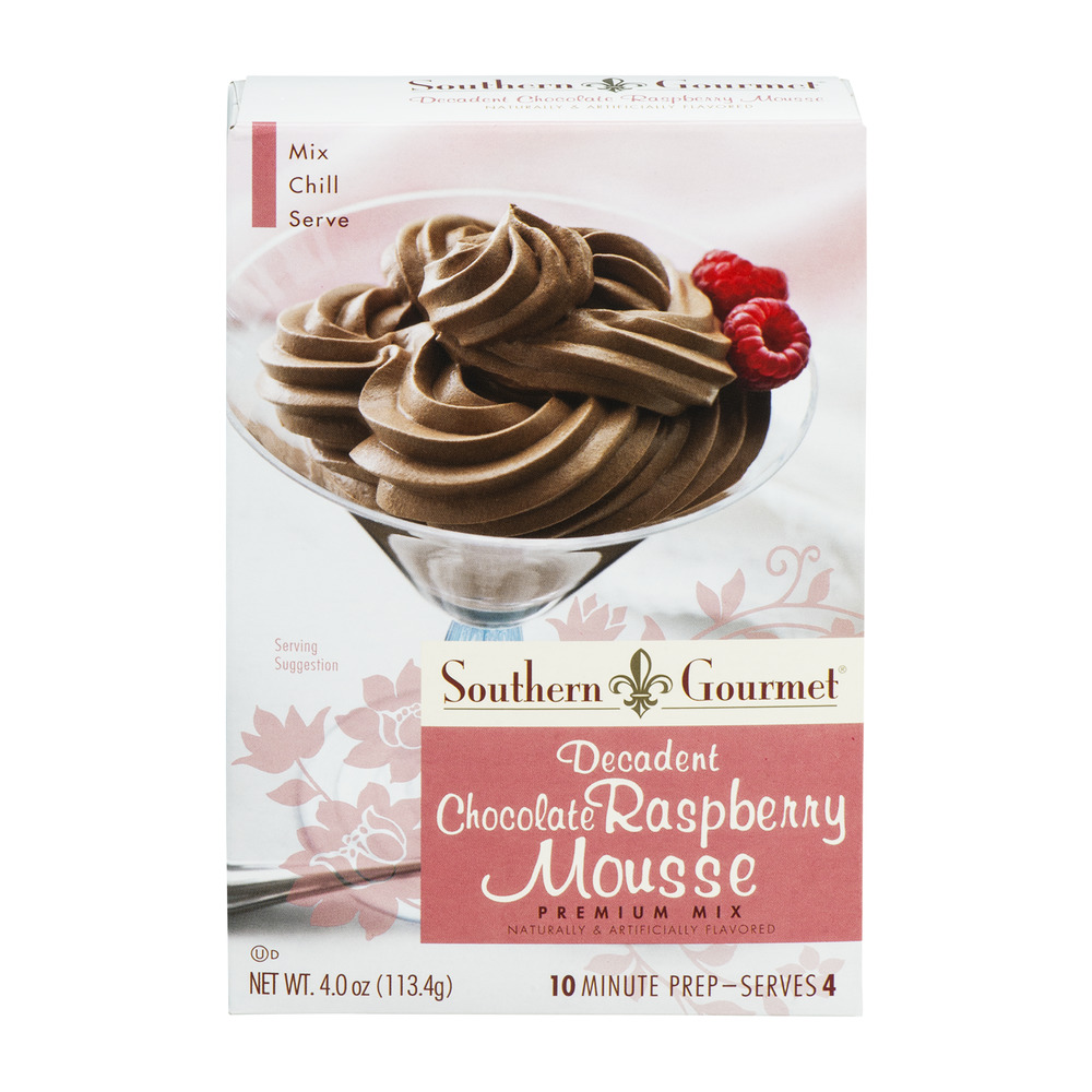 Southern Gourmet Premium Mix Decadent Chocolate Raspberry Mousse, 4.0 OZ by Kent Precision Foods Group, Inc.