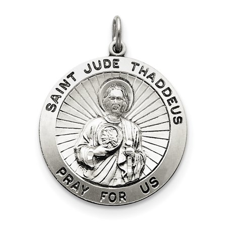 925 Sterling Silver Saint Jude Thaddeus Medal