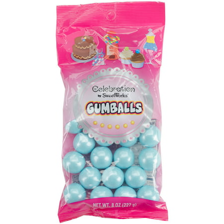 Celebration By Sweetworks Candy Gumballs, 8oz Bag