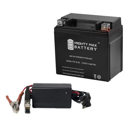YTX5L-BS Battery for Yamaha TW200 Trailway TW200BC + 12V 1Amp - Yamaha Tw200