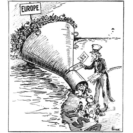 Immigration Cartoon 1921 NThe Only Way To Handle It Contemporary Cartoon On The Effectiveness Of The Temporary Immigration Act Of 1921 In Reducing The Flood Of Immigrants To The United States To A