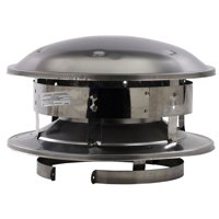"Selkirk 8T-CT 8"" Stainless Steel Round Top"