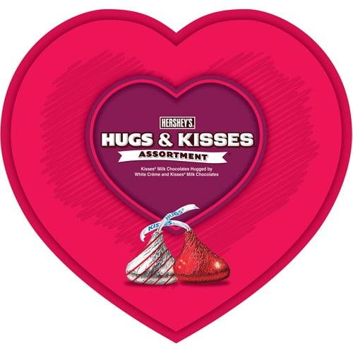 Hugs & Kisses Valentine's Heart Box Candy Assortment, 8 oz