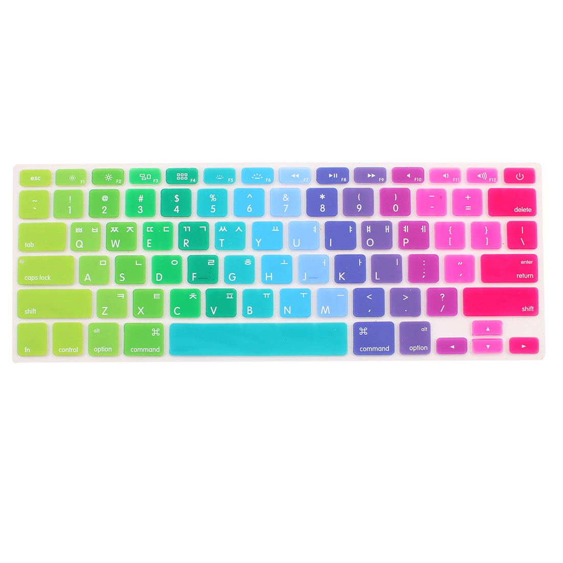 Unique Bargains Apple Macbook Air 13 15 17 Inch Silicone Lid Korean Keyboard Film