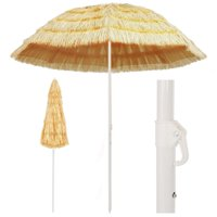 "Beach Umbrella Natural 94.5"" Hawaii Style"