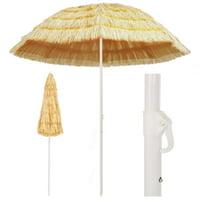 "94.5"" Beach Umbrella for Sand, Hawaii Style, Pool Patio Beach Umbrella Beach Canopy"