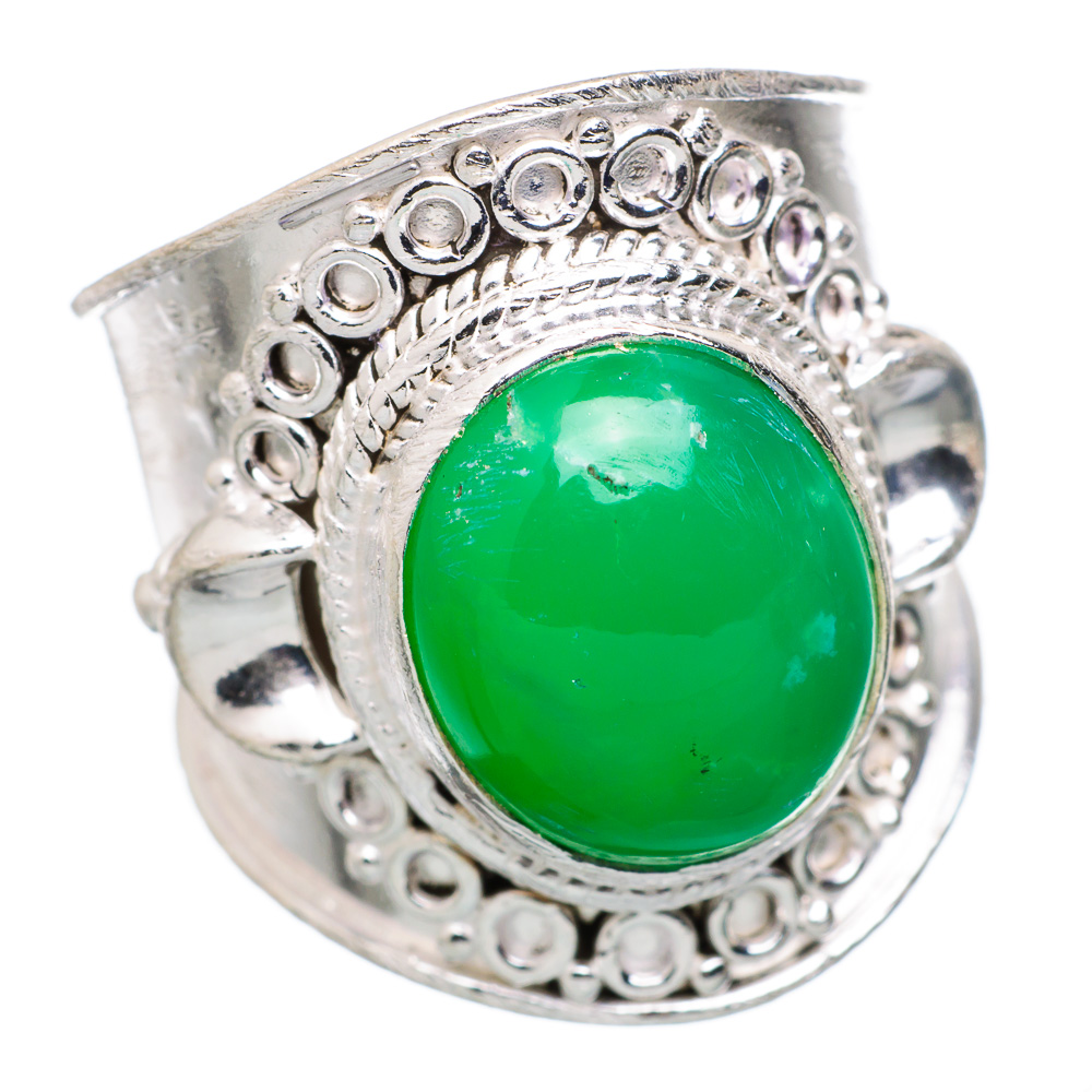 Ana Silver Co Chrysoprase 925 Sterling Silver Ring Size 8.5 Handmade Jewelry RING834079 by Ana Silver Co.