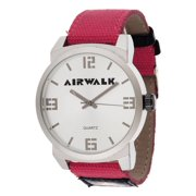 Men's Watch, Red Canvas Strap