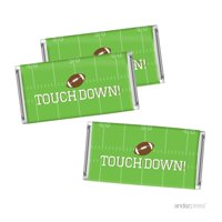 Birthday Hershey Bar Party Favor Labels Stickers, Football Touchdown! Party, 10-Pack