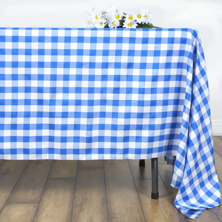 "BalsaCircle 70"" x 70"" Square Gingham Checkered Polyester Tablecloth for Garden Party Wedding Reception Catering Dining Table Linens"