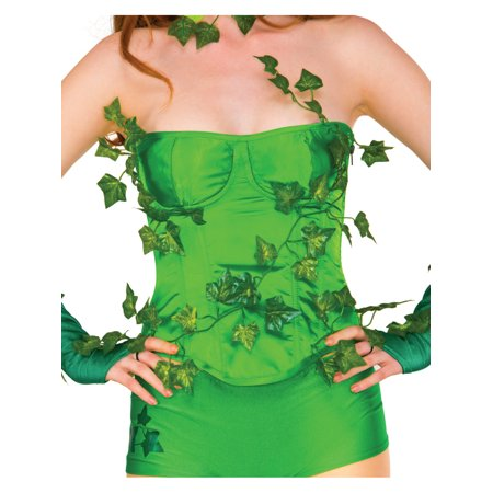 Adult Women's  Deluxe Poison Ivy Corset Costume Accessory - Poison Ivy Costume For Adults