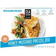 Sea Cuisine Honey Mustard Pretzel Crusted Wild Alaska Pollock Fillets 2 ct Box