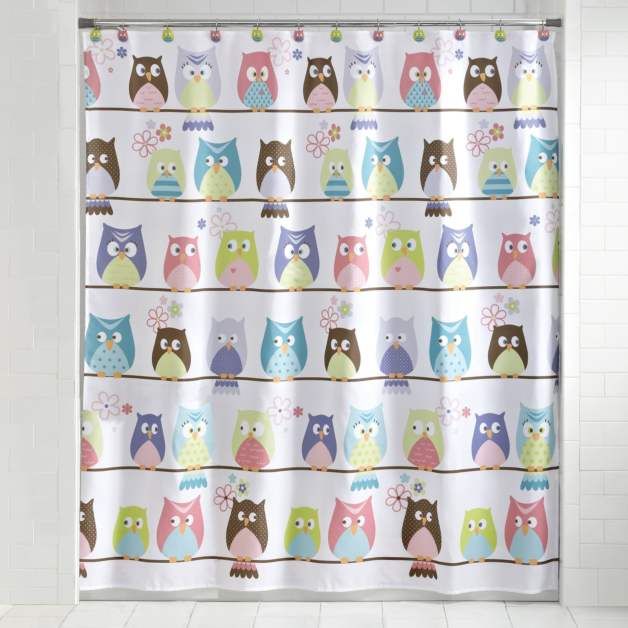 Owl shower curtains - Mainstays Whooty Hoot Decorative Bath Collection Shower Curtain Walmart Com