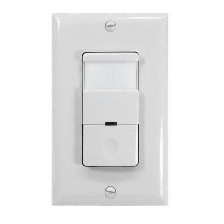 Nicoroccupancyvacancy passive infrared motion sensor wall switch nicoroccupancyvacancy passive infrared motion sensor wall switch with night light 120 277v mozeypictures Choice Image