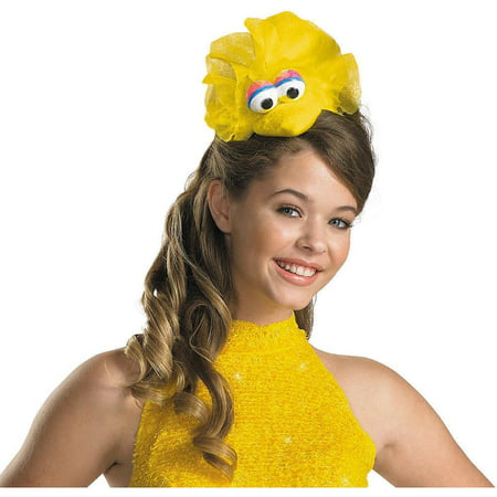 Disguise Women's Sesame Street Big Bird Adult Costume Headband, Yellow, One Size (Big Panda Head Costume)