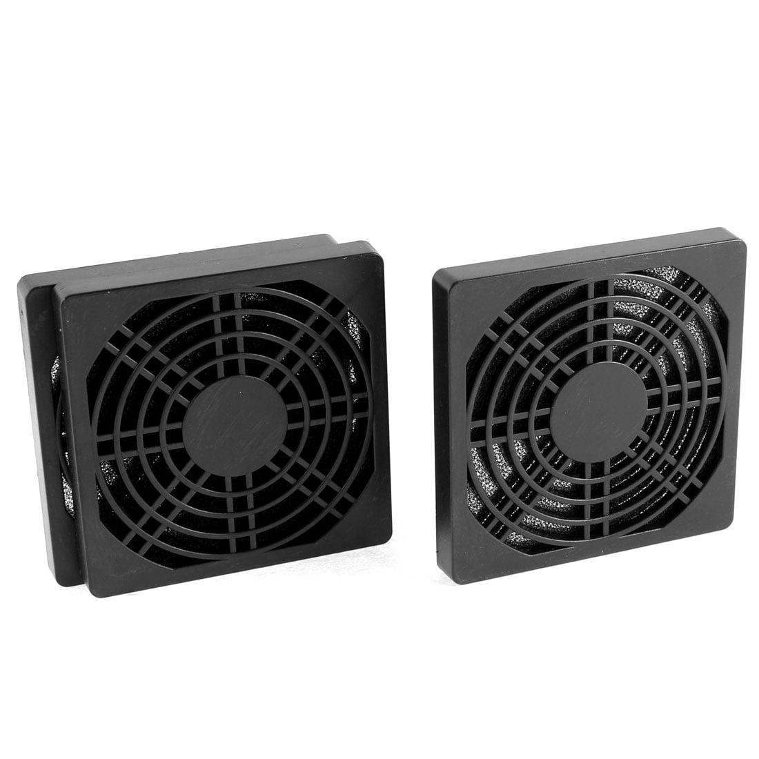 Unique Bargains 3Pcs 85 x 85 x 10mm Black Plastic Cooling Fan Dust Filter Shield for PC Desktop