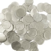 """Wrapables® 1"""" Round Tissue Confetti Party Decorations for Weddings, Birthday Parties, and Showers (White)"""