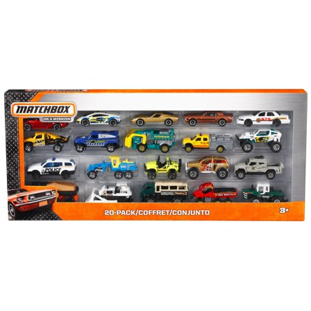 Matchbox Adventure Pack 20 Die-Cast Vehicles (Styles May Vary)