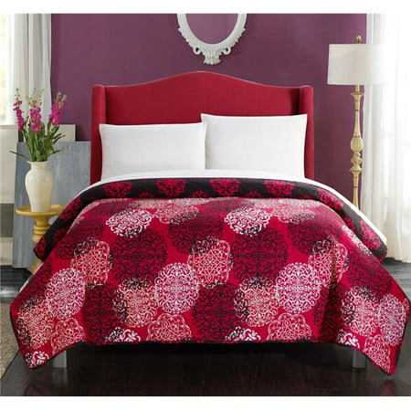 Chic Home QS2701-US Perfect Neville Boho Inspired Reversible Print Twin Quilt Set, Red - 1 Piece - image 1 de 1