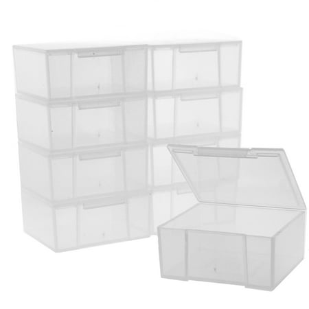 Paylak 10 Storage Square Clear Containers for Small Items Organizer 2.5 -