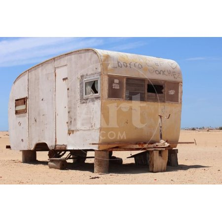 Abandoned Trailer in the Desert Print Wall Art By Charles (Harker Godey Prints)