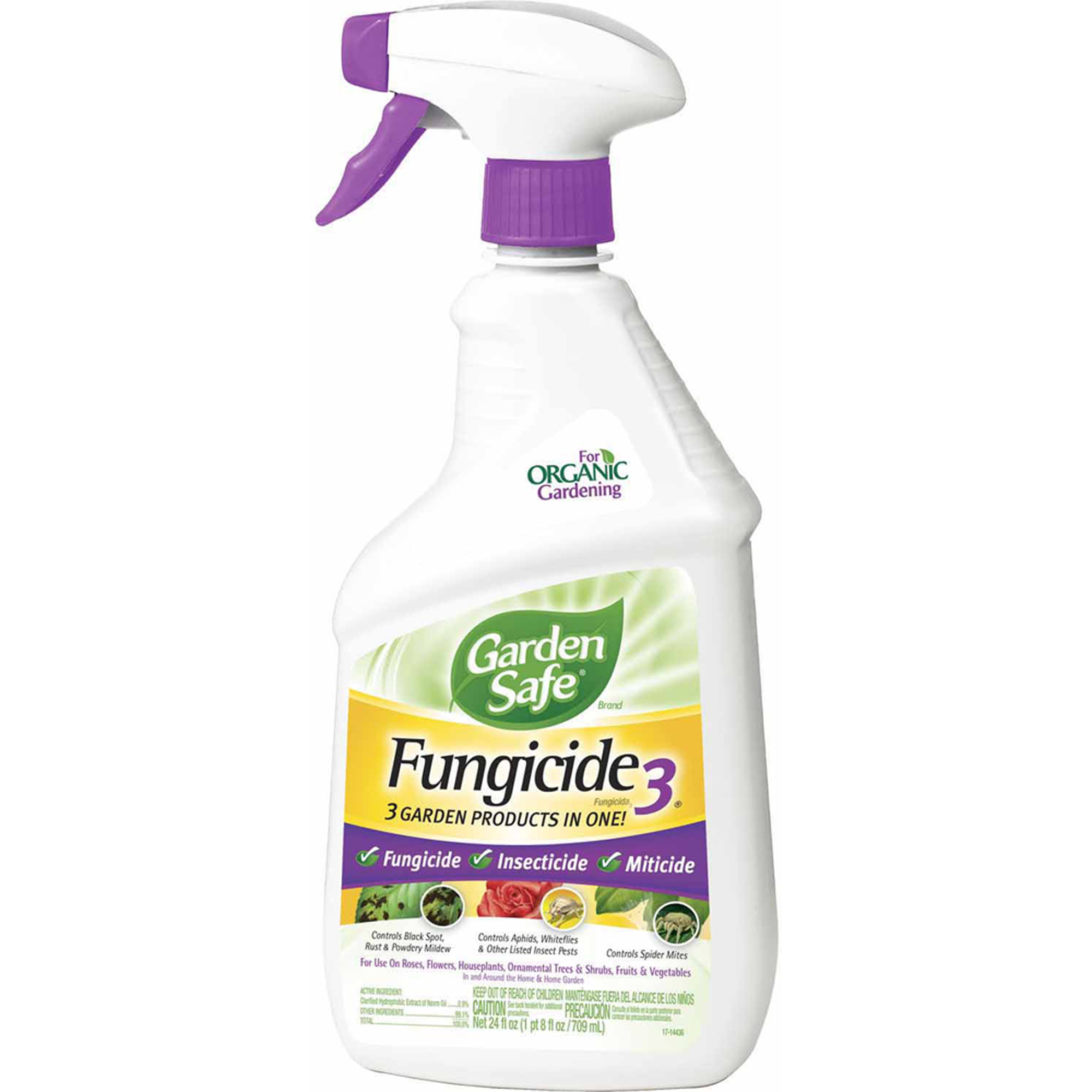 Garden Safe Brand Fungicide 3 Ready-to-Use, 24 oz