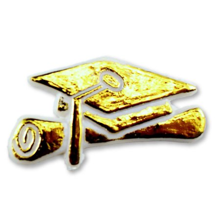 Small Mini Plastic Graduation Cap Sign Charm Capia Pieces for Party Favors White/Gold 144 Pieces](Mini Graduation Cap)