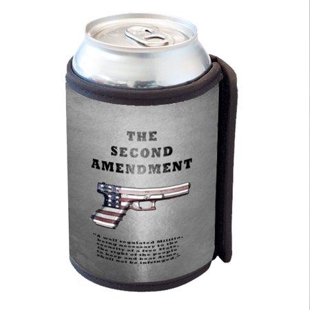 ce470081ef59 KuzmarK Insulated Drink Can Cooler Hugger - Second Amendment American Flag  Gun - Walmart.com