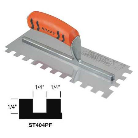 Superior Tile Cutter Inc. And Tools 11, Trowel, Square Notch, ST404PF