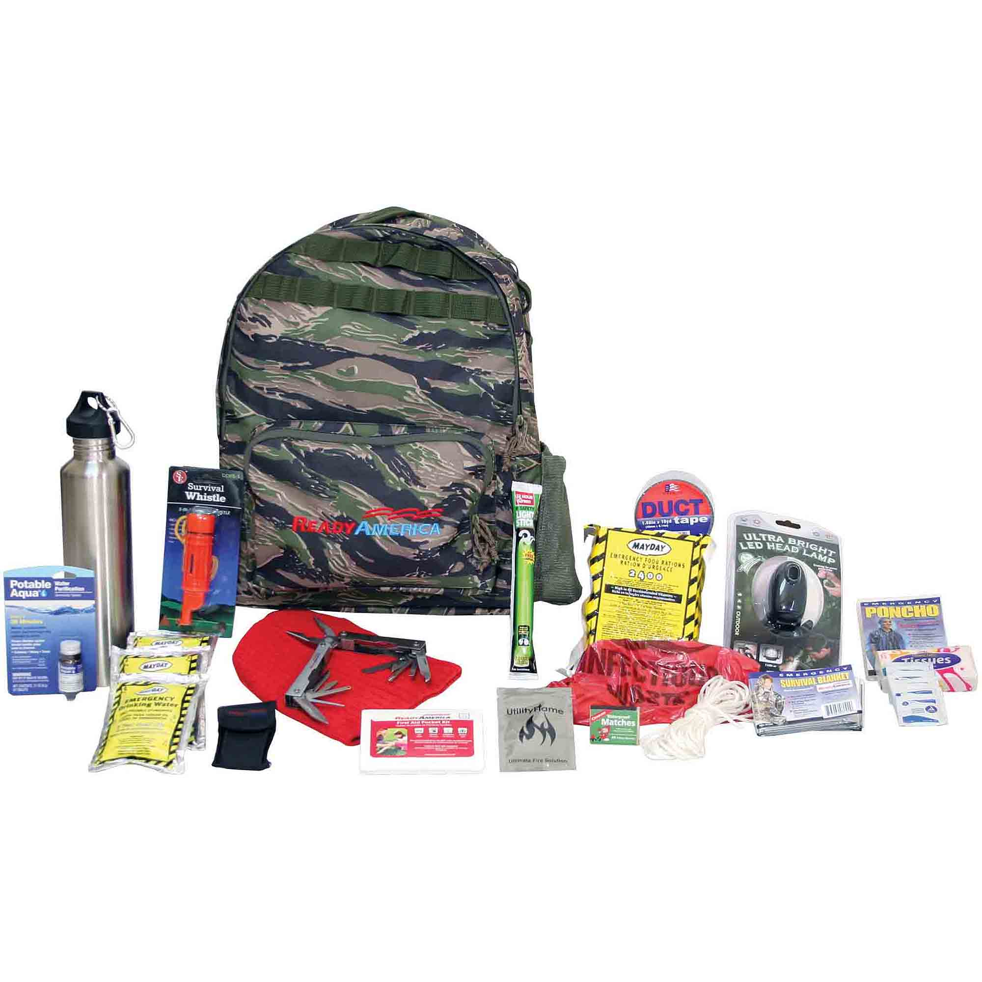 Ready America Emergency Deluxe 1-Person Outdoor Survival Kit by Ready America