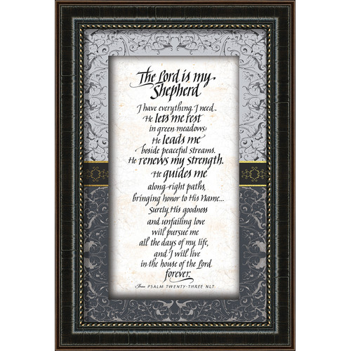Carpentree The Lord is My Shepherd Framed Textual Art