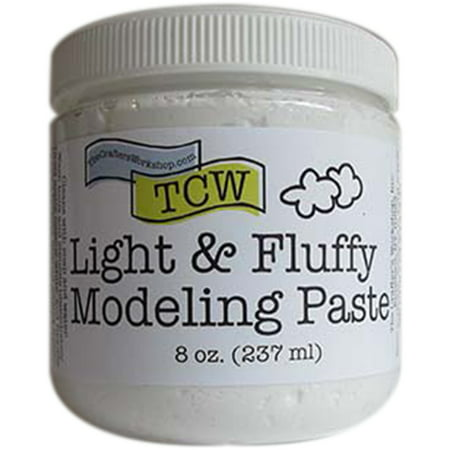The Crafter's Workshop Light & Fluffy Modeling Paste: 8 ounces