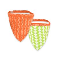 Territory Reversible Bandana, Modern Collection, Orange/Green Print, Large