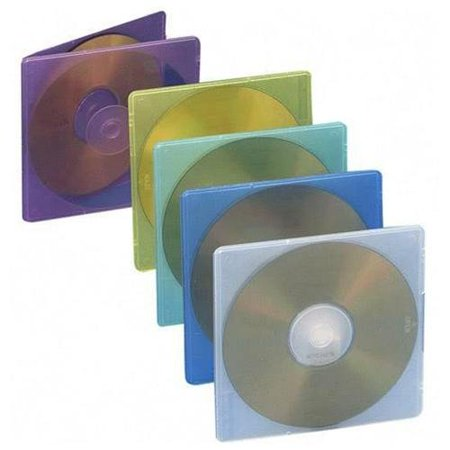 Compucessory Extra Thin Cd/dvd Jewel Case - Jewel Case - Slide Insert - Plastic - Assorted (CCS55306)